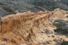 Abgefressener Felsen bei Torrey Pines State Park Stockbild