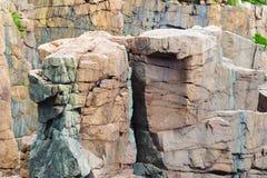 Abgefressener Granit an der Otter-Klippe Stockfotografie