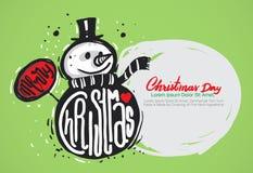 Abgehobener Betrag der frohen Weihnachten Hand Lizenzfreie Stockbilder
