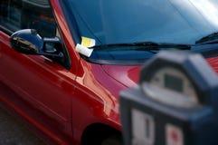 Abgelaufenes Parken-Messinstrument Lizenzfreies Stockbild