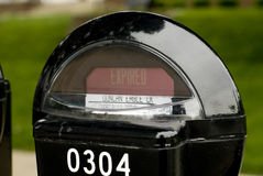 Abgelaufenes Parkenmeßinstrument Lizenzfreies Stockfoto