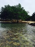 Abgelegene Bucht in Malaysia stockfoto