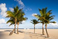 Abgelegener Strand am Fort Lauderdale Stockfotos
