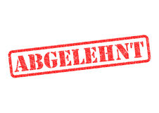 Abgelehnt Stempel. Abgelehnt Rejected Stempel/Stamp over a white background Royalty Free Stock Images