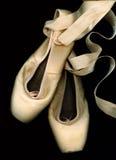 Abgenutzte Ballett Pointe Schuhe Stockfotografie