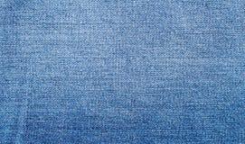 Abgenutzte blaue Denimjeansbeschaffenheit Stockfotografie
