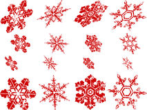 Abgenutzte Schneeflocken Stockfotografie