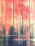 Abgenutzte Seite der Scheune stockfoto