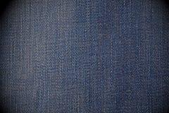 Abgenutzter blauer Baumwollstoffhintergrund Lizenzfreie Stockfotografie