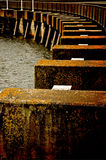 Abgenutzter Pier Stockfoto
