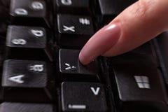 Abgenutzter Tastaturknopf Stockfotografie