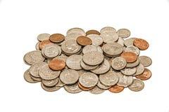 Abgenutzter und schmutziger Stapel der Münzen Lizenzfreie Stockbilder