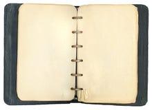 Abgenutztes antikes Notizbuch Stockfotografie
