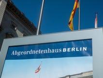 Abgeordnetenhaus av Berlin House av representanter Arkivbilder