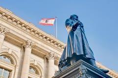 Abgeordnetenhaus den statliga parlamentet av Berlin, Tyskland Arkivfoto