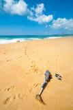 Abgeschaltet auf dem Strand lizenzfreies stockbild
