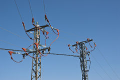 Abgeschirmte Seilzüge, zum des Stromschlages zu verhindern Lizenzfreies Stockfoto