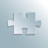 Abgeschlossenes graues Puzzlespiel Stockfoto