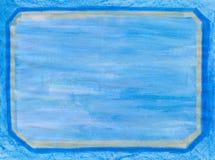 Abgeschrägter Rand gemalter Rahmen Stockbild