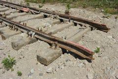 Abgespaltete Eisenbahnlinie Lizenzfreie Stockfotos