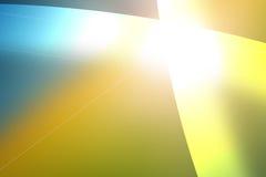 Abgestufter blauer und gelber Hintergrund mit Überfahrt zeichnet Stockbilder
