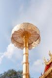 abgestufter Regenschirm Stockfoto