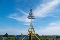 Abgestufter silberner Tempel in Thailand Stockbilder