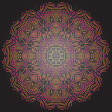 Abgetönte Mandala auf dunkelgrauem Hintergrund Traditionelles Verzierungs-DES Lizenzfreie Stockbilder