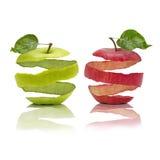Abgezogene Äpfel Stockbild