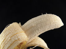Abgezogene Banane Stockfotografie