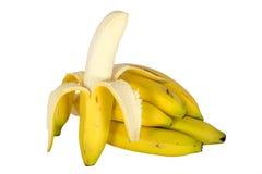 Abgezogene Banane Lizenzfreie Stockfotos