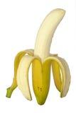 Abgezogene Banane stockfotos