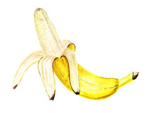 Abgezogene Banane stock abbildung