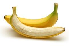 Abgezogene Banane Stockfoto