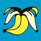 Abgezogene Bananenillustration Lizenzfreie Stockbilder