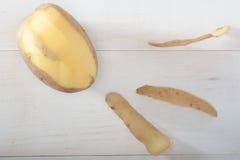 Abgezogene Kartoffel Lizenzfreies Stockbild
