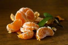 Abgezogene Mandarine Lizenzfreies Stockfoto