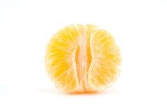 Abgezogene Tangerine- oder Mandarinenfrucht Stockfoto