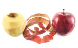 Abgezogener Apfel Lizenzfreie Stockfotografie