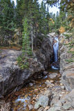 Abgrund fällt Rocky Mountain Park Stockfotos