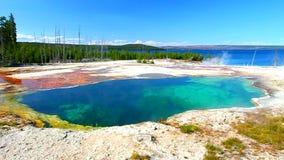 Abgrund-Pool von Yellowstone stock video footage