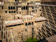 abhaneri india rajasthan do chand do baori Imagem de Stock
