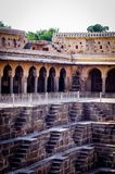 abhaneri india rajasthan do chand do baori Imagem de Stock Royalty Free