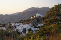 Abhang-Grieche vilages Stockbild
