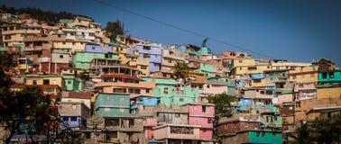 Abhang in Haiti stockfotografie