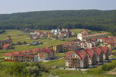 Abhang-Wohnsiedlung Lizenzfreie Stockfotografie
