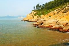 Abhangküste Stockfoto