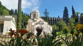 Abhasia kyrka Arkivfoton