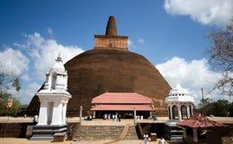 Abhayagiri Dagaba in Sri Lanka. View of big Stupa the Abhayagiri Dagaba in Sri Lanka Royalty Free Stock Photos