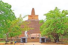 Abhayagiri Dagoba, arv för Sri Lanka UNESCOvärld Royaltyfri Fotografi